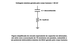 Voltagem máxima de 50 kV gerada pelo corpo humano