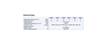 WELWYN RESISTOR PWP20 - Electrical Data