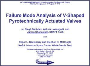 Failure Mode Analysis of V-Shaped Pyrotechnically Actuated Valves
