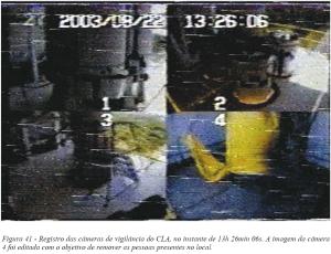 Figura 41 do Relatorio da Investigacao mostrando imagem com interferencia gerada por centelhamento