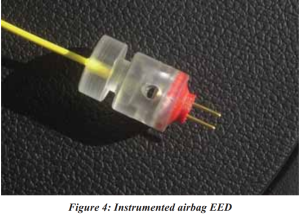 Figure 4 Instrumented airbag EED