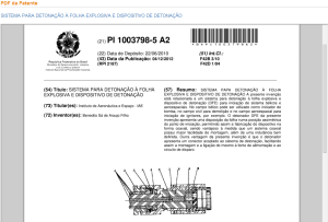 PDF da patente do detonador a folha explosiva e sistema de detonacao