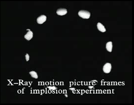 X-Ray motion picture frames of implosion experiment